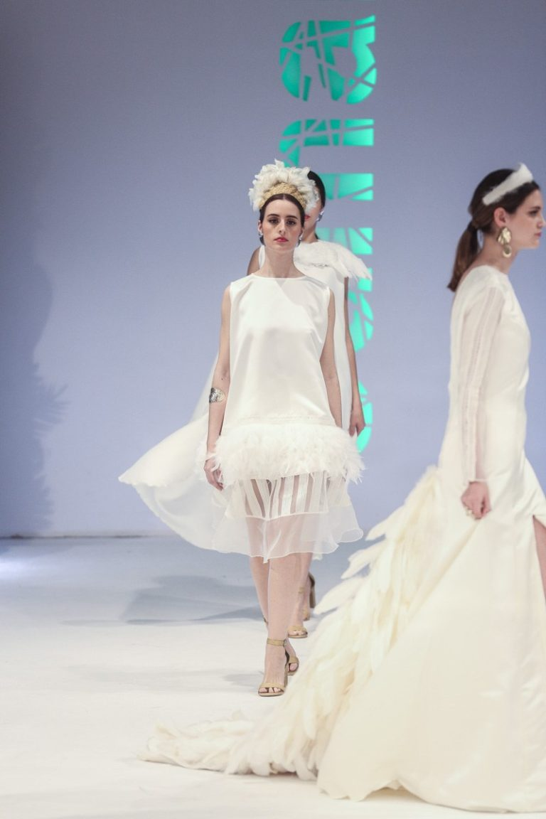 Desfile de moda na Mostra do Encaixe de Camariñas