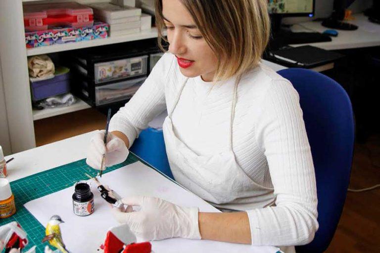 Ana Miguéns, unha das participantes no ArtEncaixe