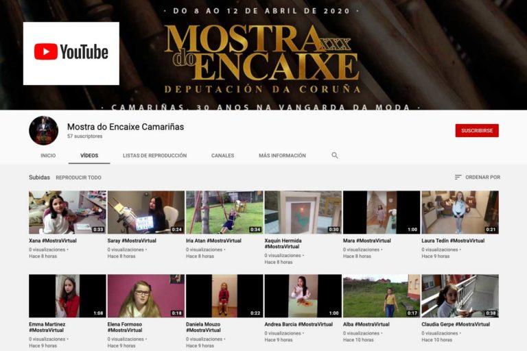 Captura da canle de Youtube da Mostra do Encaixe de Camariñas