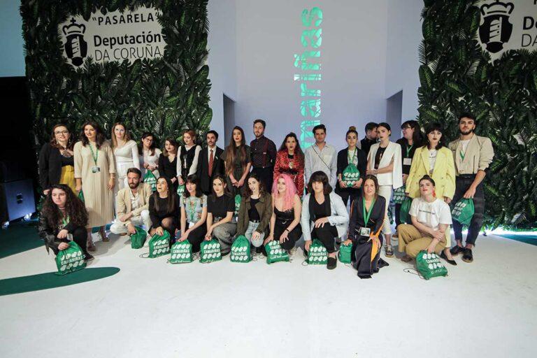 Concursantes do Concurso de Noveis Deseñadores Mostra do Encaixe 2019