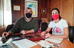 Carlos Tavares e Encarna Liñeiro na reunión celebrada esta mañá